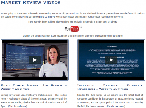 Market Review Videos e1447066607385 Binary Options   Can You Make Money?